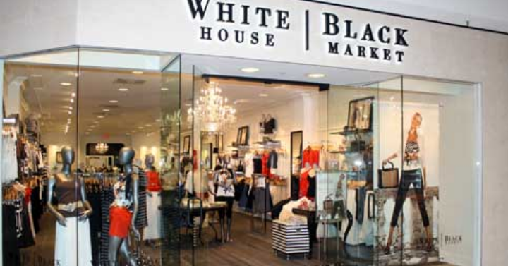 black and white store