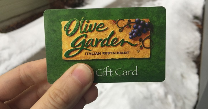 Olive Garden 25 Gift Card Giveaway Joe