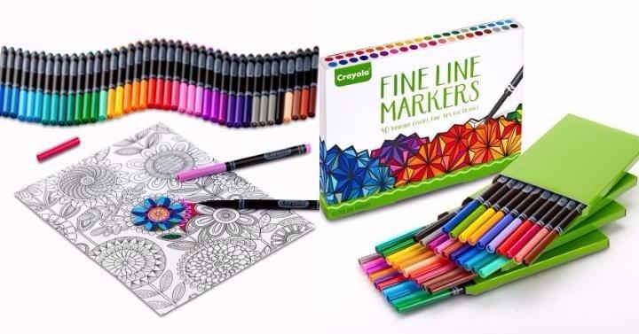 crayola fine line markers giveaway joe