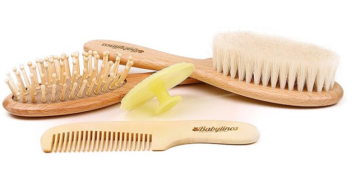 Wooden Baby Hair Brush Set Giveaway Joe